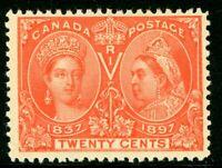 Canada 1897 Jubilee 20¢ Scott # 59 Mint W694