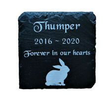 Personalised Engraved Pet Memorial Slate Stone Grave Marker Plaque Rabbit