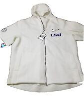Nike Showout LSU Mens Short-Sleeve Hoodie Size XXL CD0438-100 White $150