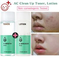 Acne & Blemish Skin Care, Clean Up Basic Set Toner + Lotion / Korean Cosmetics