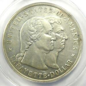 1900 Lafayette Silver Dollar $1 Coin - Certified AU50 Details - Rare Coin!