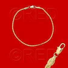 """GOLD over SILVER QUALITY MADE in ITALY 2mm ROPE CHAIN 8.5"""" BRACELET R2B"""