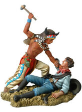 Custer's Last Stand Sioux Fighting Cavalryman Black Hawk Painted Metal BH109