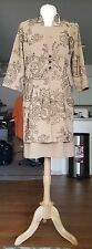 Beautiful looking Just in Thyme Brown flower dress size 10 almost 2 piece