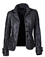 Nouvelle veste / manteau de moto en cuir souple en cuir d'agneau véritable pour