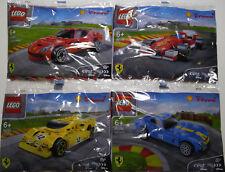 Shell LEGO Collection Ferrari - Full set of 7 Packs  (2014) (#09-29-b)