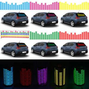 Car Sound Music Rhythm Interior Equalizer Sticker Sensor LED Flash Light Lamp