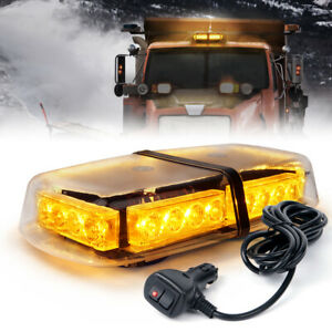 24 LED Strobe Beacon Light Amber Tractor Trucks Rooftop Flash Emergency Warning