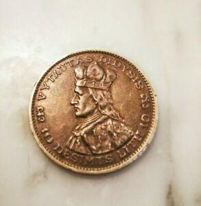 Lithuania: Silver Coin 10 litas, litu 1936, nice patina, free shipping