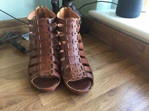 Pikolinos Shoes Uk 5 Euro 38 Tan Leather