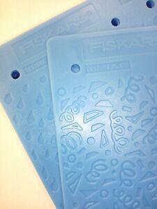 6x Fiskars Texture Plates Dry Embossing Cardmaking 5659 12 TEXTURE DESIGNS