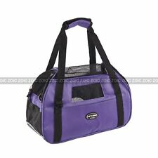 Pet Cat Dog Puppy Carrier Travel Tote Shoulder Soft Carry Bag Purple Outdoor