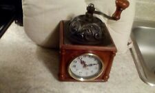 Vintage Metal Manthe Clock Battery operated in working condition.