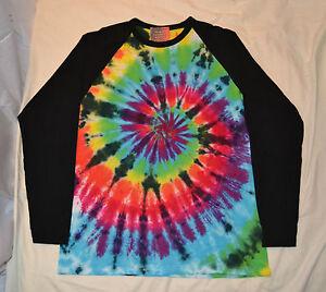 CUSTOM make your own Tie Dye Baseball Long Sleeve T shirt UNISEX SIZES S-2XL