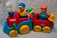 "Famosa LEARNING ACTIVITY CAILLOU & ROSIE ON WIND-UP TRAIN 14"" PLASTIC TOY"