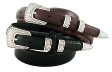 "S5561 - Western Genuine Leather Ranger Belt 1-3/8"" Tapers to 3/4"" Wide"