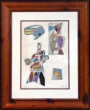 "Neal Doty"" Flash Back Doors"" Mix Media on Paper HS # Artwork Custom Framed"