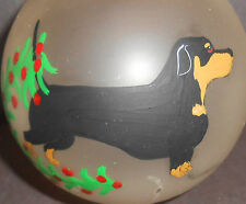 Dachshund Dog Christmas Holiday Ornament  Signed M Westberry