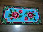 Picture Carpet - Handmade.sewn by hand - Antiques. 1940 - 1960. 95 - 48 sm.