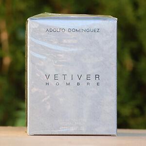 Vetiver Hombre Adolfo Dominguez 120 ml  Spray Eau de Toilette EDT Nuevo Puig