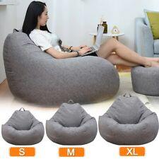 Bean Bag Chair Sofa Cover(No Filler)Lazy Lounger High Back Bean Bag-Color Grey