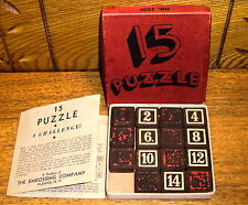 Vintage Embossing Company Game - 15 Puzzle A Challenge! - No. 3209 - Worn