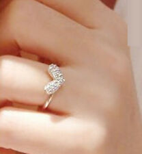 FD1486 Elegant Ring Rhinestone Cystal Diamond Heart Peach Ring Valentine's Day