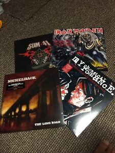 4 vinyl records job lot Sum 41 Iron Maiden My Chemical Romance Nickelback Sealed