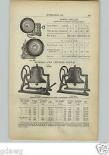 1910 PAPER AD Railroad Locomotive Type Gong Bell Chime Higgins Trip Fire Alarm
