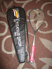 Feather Titanium Drop 160 Squash Racquet w/ Bag *RARE*