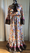 NWT Talia Benson Long Maxi Dress Abaya Modest Gown Long Sleeves Sz S Floral Eid