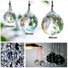 20mm Clear Feng Shui Hanging Crystal Ball Lamp Sphere Sun Rainbow Catcher N CL