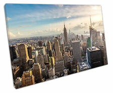 NEW YORK MORNING CANVAS WALL ART PICTURE LARGE 75 X 50 CM