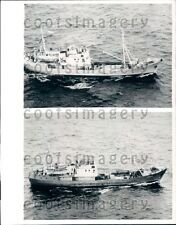 1963 Russian Trawlers SS Gidrophone & SS Deflector Press Photo