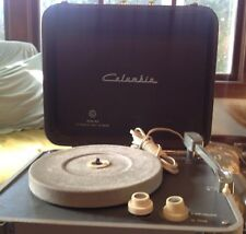 Vintage Columbia Phonograph Record Player Portable Suitcase Model 413