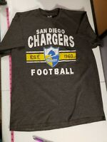 Vintage/Retro NFL San Diego Chargers Football Shirt Grey Large