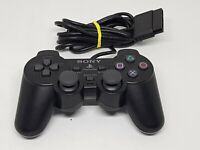 Sony PlayStation 2 Controller Official Dualshock 2 PS2 Black EXCELLENT CONDITION