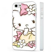 Hello Kitty Pink Floral WHITE PHONE CASE COVER fits iPHONE