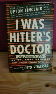 Antique Collectible Book I WAS HITLER'S DOCTOR  Krueger Nazi  2nd Print 1942