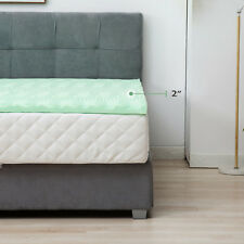 2''/2.5''/3''/4'' Comfort Gel Memory Foam Mattress Topper- Dot / Curve / Normal