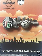 2016 HARD ROCK CAFE ATLANTIC CITY 3D SKYLINE GUITAR SERIES CITY SKYLINE/CHIP PIN
