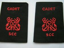 Sea Cadet Corps Petty Officer Cadet Red on Black Slides SCC buy one get one free