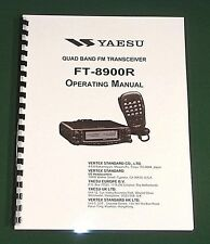 Yaesu FT-8900R Operating manual -  Premium Card Stock Covers & 32 LB Paper!