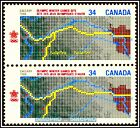 2x CANADA 1986 CANADIAN WINTER OLYMPIC GAMES MINT FV FACE 68 CENT MNH STAMP LOT