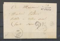 1853 Lettre Cursive 24/Mouthier/Hte Pierre + G: Sousicon, DOUBS Superbe X4017