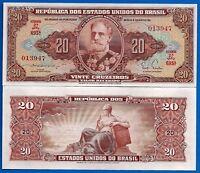 Brazil P-160 20 Cruzeiros Year ND 1951-1961 Uncirculated Banknote