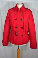 ROSSETTI red quilted jacket coat with belt Size 16 double breasted