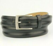 "Tasso Elba Black Leather Belt Size 34"" 85cm"