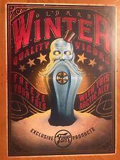 Tin Sign Vintage Metal Bioshock Old Man Winter Quality Vigors