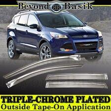 2013 2014 2015 2016 2017 Ford Escape Chrome Door Vent Window Visors Rain Guards